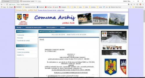 Comuna Archiș – județul Arad – Portalul oficial al Comunei Archiș – județul Arad - Google Chrome 07.01.2018 104509 AM