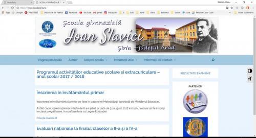 SCOALA GIMNAZIALĂ IOAN SLAVICI ȘIRIA - - Google Chrome 07.01.2018 104234 AM